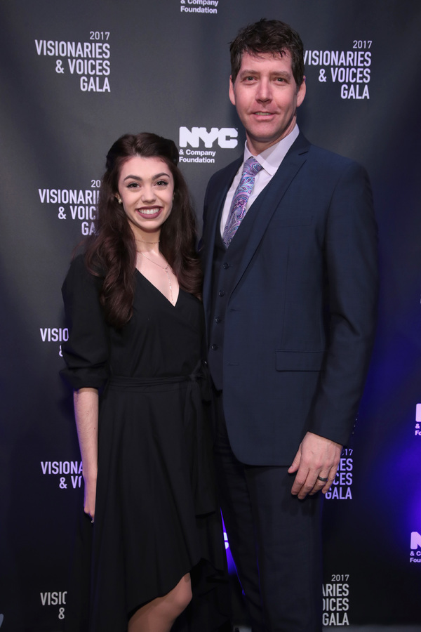 NEW YORK, NY - DECEMBER 18:  Kelly Ann Voorhees and James Barbour of Phantom of the Opera attend the NYC & Company Foundation Visionaries & Voices Gala 2017 on December 18, 2017 in New York City.  (Photo by Cindy Ord/Getty Images for NY & Company)