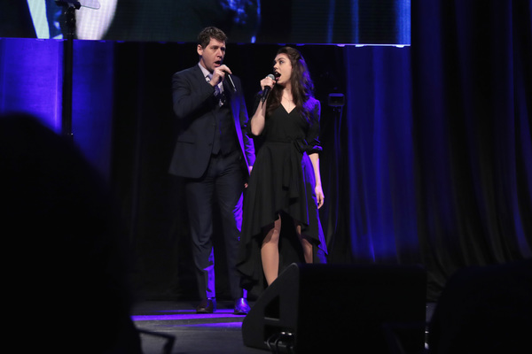NEW YORK, NY - DECEMBER 18:  James Barbour and Kelly Ann Voorhees perform  Phantom of the Opera onstage at the NYC & Company Foundation Visionaries & Voices Gala 2017 on December 18, 2017 in New York City.  (Photo by Cindy Ord/Getty Images for NY & Compan