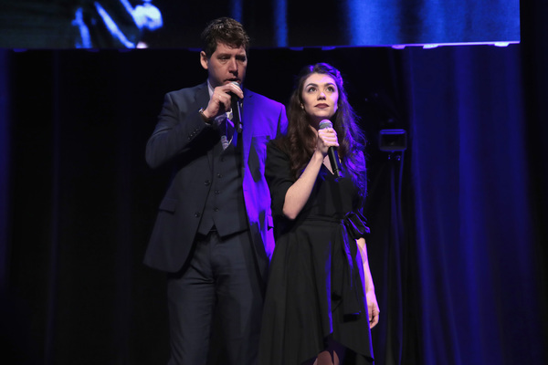 NEW YORK, NY - DECEMBER 18:  James Barbour and Kelly Ann Voorhees perform  Phantom of Photo