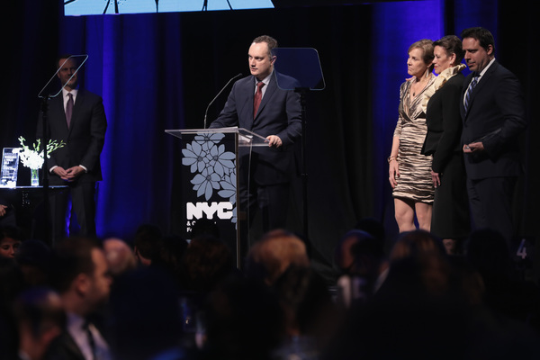 NEW YORK, NY - DECEMBER 18:  (L-R) Alexander Svezia, Lisa Truitt, Christine Kurtz, and William Pennell, of SPE Partners speak onstage at NYC & Company Foundation Visionaries & Voices Gala 2017 on December 18, 2017 in New York City.  (Photo by Cindy Ord/Ge