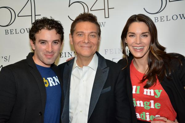 Jarrod Spector, Michael Feinstein and Kelli Barrett