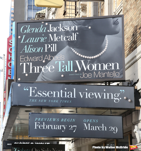 UP ON THE MARQUEE: Edward Albee's THREE TALL WOMEN