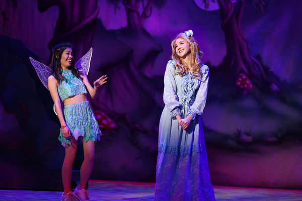 "Ashley Argota and Audrey Whitby in Lythgoe Family Panto's PETER PAN AND TINKER BELL â€"" A PIRATES CHRISTMAS. Photo credit: Cathy Cunningham Photography."
