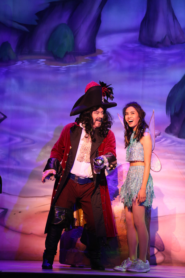"Mark Ryan and Ashley Argota in Lythgoe Family Panto's PETER PAN AND TINKER BELL â€"" A PIRATES CHRISTMAS. Photo credit: Cathy Cunningham Photography."