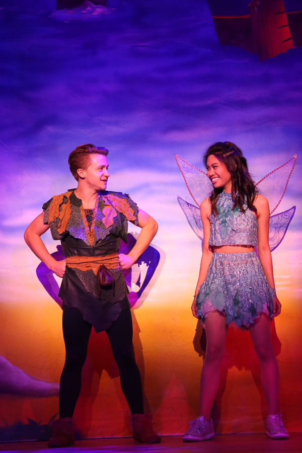 """Riley Costello and Ashley Argota  in Lythgoe Family Panto's PETER PAN AND TINKER BELL â€"""" A PIRATES CHRISTMAS. Photo credit: Cathy Cunningham Photography."""
