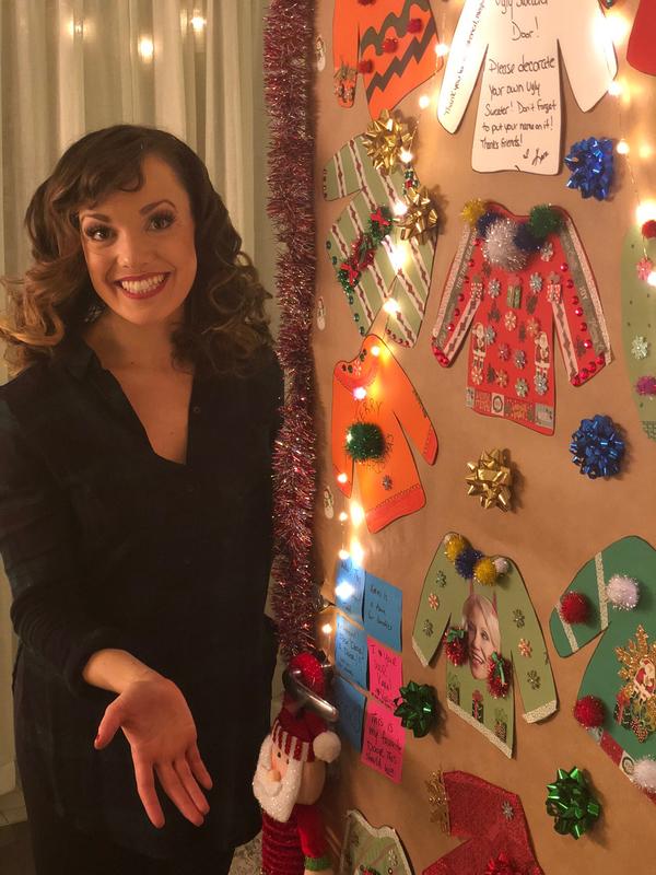 Kara Lindsay shows off her door! Photo