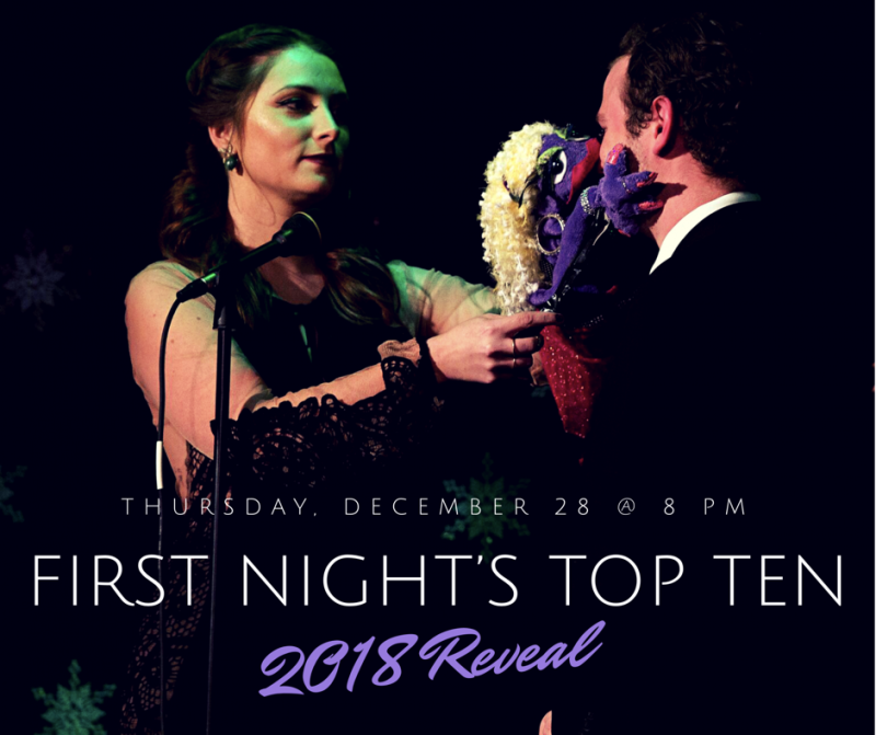 First Night's Top Ten of 2018 To Be Revealed Tonight
