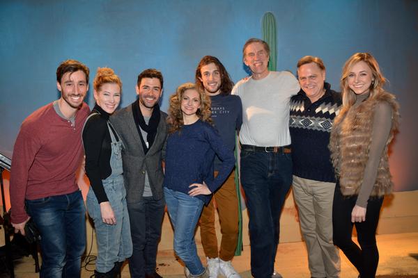 Adam Kantor with the cast-Anthony Fessta, Emma Segerstedt, Lauren Molina, Conor Ryan, Nick Wyman, Tom Souhrada and Celia Hottenstein