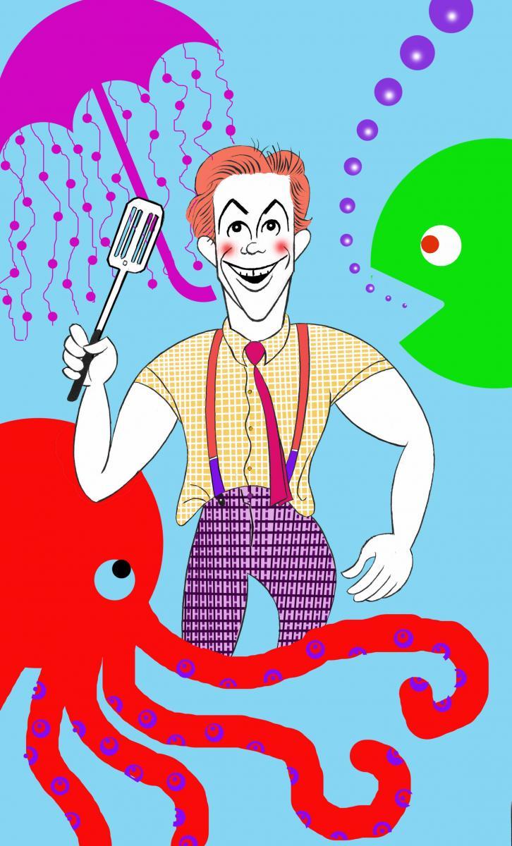 BWW Exclusive: Ken Fallin Draws the Stage - SPONGEBOB SQUAREPANTS!