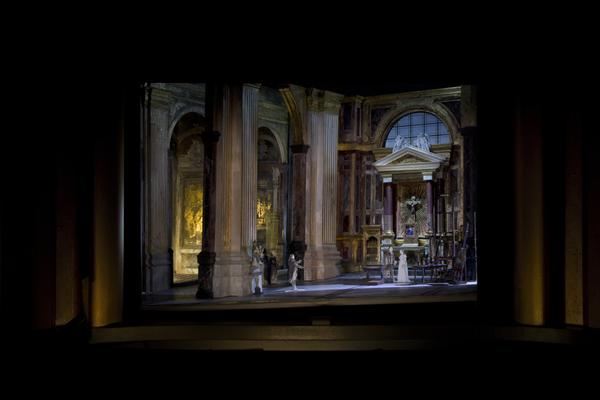 A set model for David McVicar's new production of Tosca. Set designer: John Macfarlane