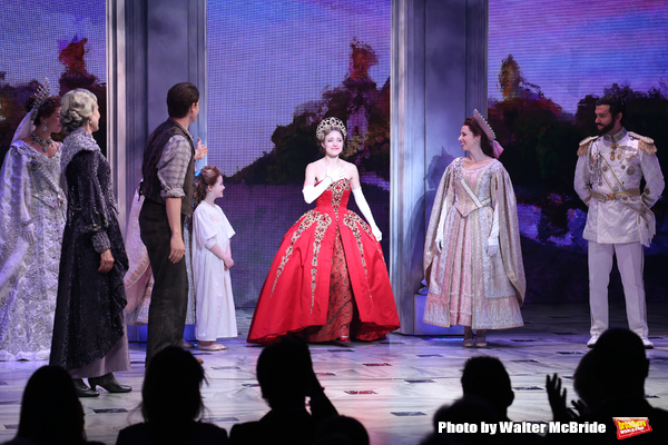 Christy Altomare and the cast during Broadway Opening Night Performance Curtain Call bows for 'Anastasia' at the Broadhurst Theatre on April 24, 2017 in New York City.