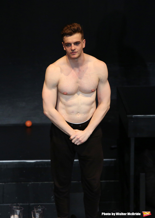 Jonno Davies during the Opening Night Curtain Call bows for 'A Clockwork Orange'  at the New World Stages on September 25, 2017 in New York City.