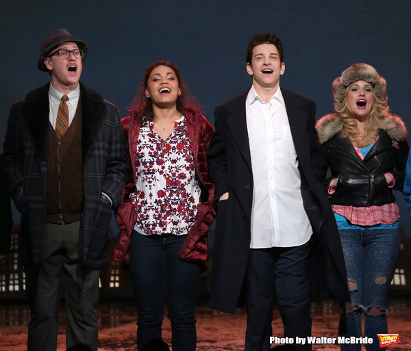 Broadway Opening Night Curtain Call Bows for 'Groundhog Day' at August Wilson Theatre on April 17, 2017 in New York City.