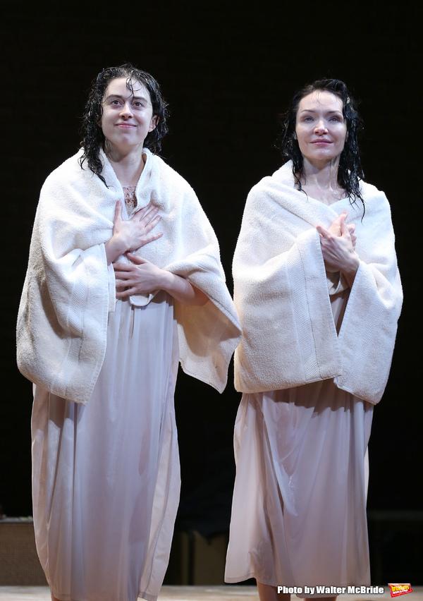 Adina Verson and Katrina Lenk during the Broadway Opening Night Performance Curtain C Photo
