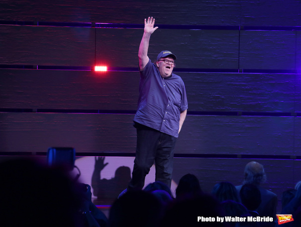 Michael Moore during the Curtain Call for the Broadway Opening Night of 'Michael Moor Photo