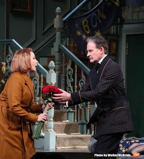 Kate Burton and Kevin Kline during Broadway Opening Night  curtain call for 'Present  Photo