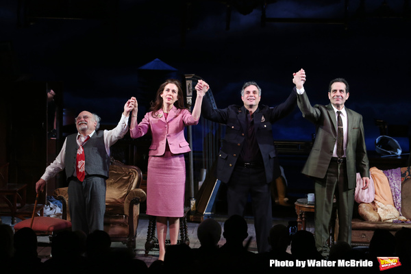 Danny DeVito, Jessica Hecht, Mark Ruffalo and Tony Shalhoub during Broadway Opening N Photo