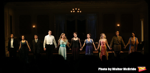 Alfredo Narciso, Brooke Bloom, Steven Boyer, Gabriel Ebert, Charlotte Parry, Elizabeth McGovern, Anna Camp, Anna Baryshnikov, Matthew James Thomas and Cara Ricketts during the Broadway Opening Night performance Curtain Call Bows for The Roundabout Theatre