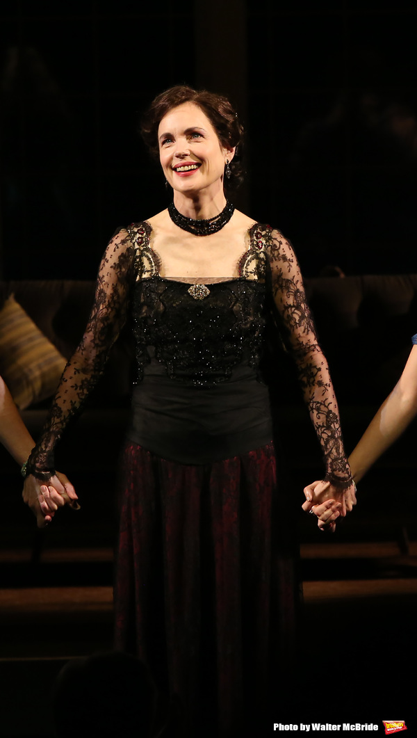 Elizabeth McGovern during the Broadway Opening Night performance Curtain Call Bows for The Roundabout Theatre Company production of 'Time and The Conways'  on October 10, 2017 at the American Airlines Theatre in New York City.