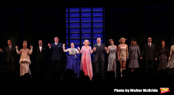 Douglas Sills, Patti Lupone, Christine Ebersole, John Dossett and cast during the Broadway opening night performance curtain call for 'War Paint' at the Nederlander Theatre on April 6, 2017 in New York City
