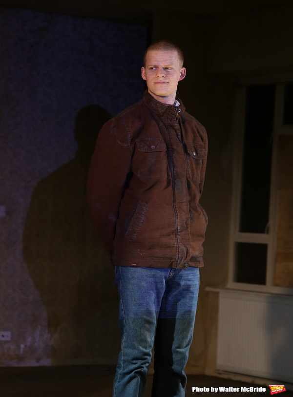 Lucas Hedges during the 'Yen' Opening Night Curtain Call bows at the Lortel Theatre o Photo