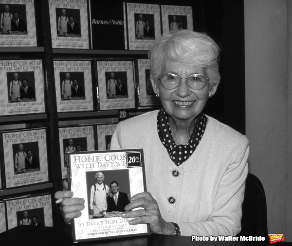 Dorothy Mengering, David Letterman's Mom, on September 19, 1996 appearing at Barnes & Noble, New York City.