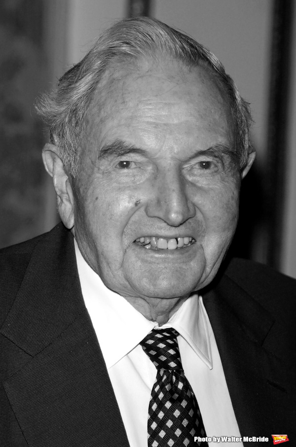 David Rockefeller attends the United Nations Association of USA Global Leadership Dinner honoring Oprah Winfrey with the Global Humanitarian Action Award at the Waldorf Astoria Hotel in New York City. September 30, 2004