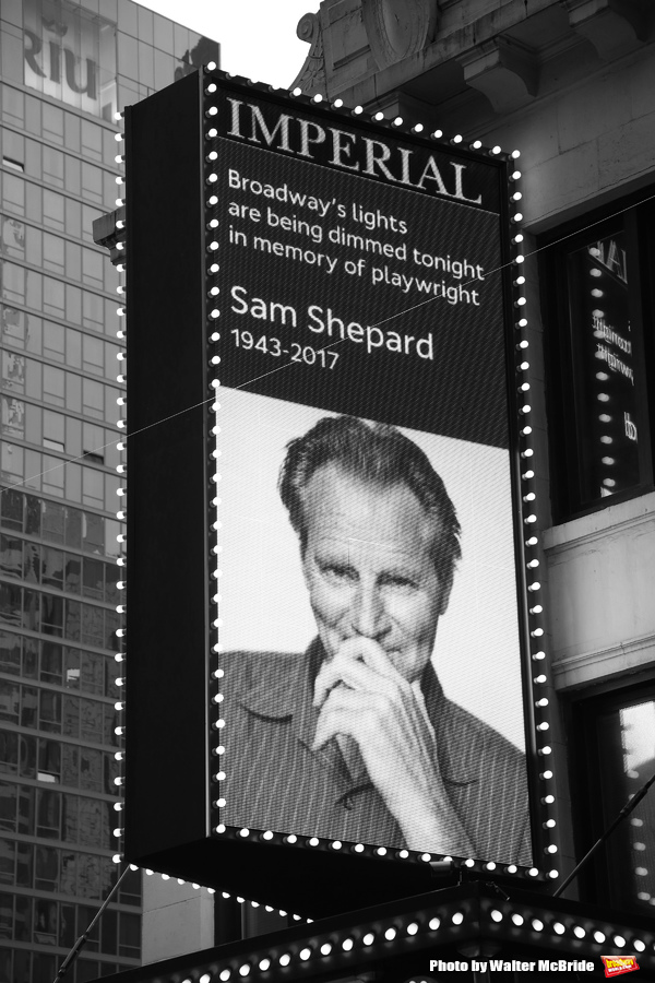 Broadway Dims The Lights In Memory Of Sam Shepard  at The Music Box Theatre and the I Photo