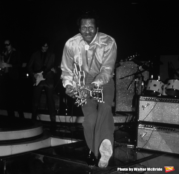 Chuck Berry performing at the Red Parrot in New York City. 1/4/1983 Photo