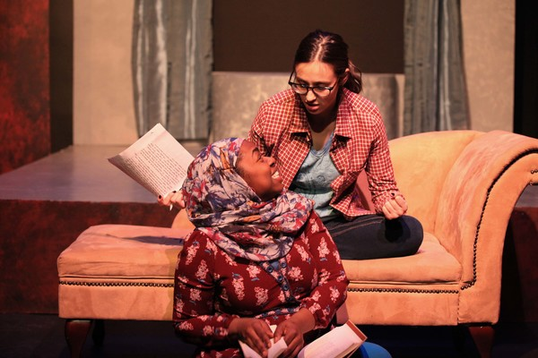 Kristen Alesia and Meagan Dilworth in DECISION DAY by Abigail Henkin, directed by Jerrell Henderson