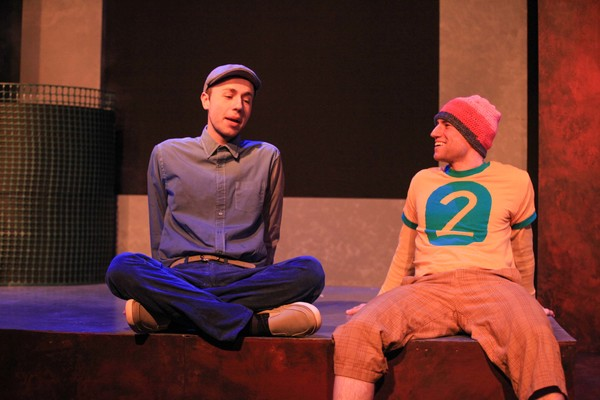 David Flack and Peter Surma in PENCILS AND PENS by Aaron Powdermaker, directed by Ilesa Duncan