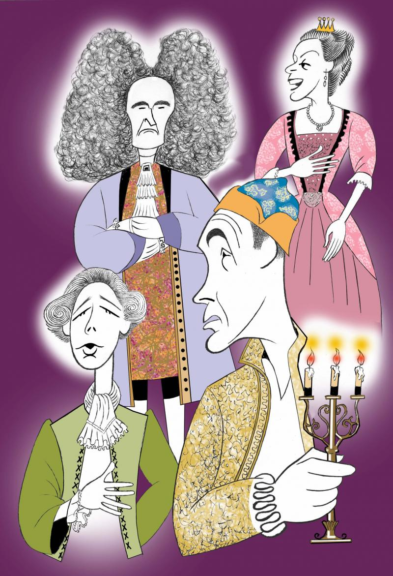 BWW Exclusive: Ken Fallin Draws the Stage - Mark Rylance & Company in FARINELLI AND THE KING