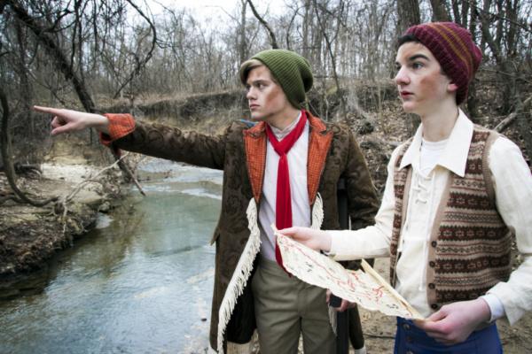 Logan Beutel and Will McDonald in Treasure Island.  Photo by Jason Johnson-Spinos.