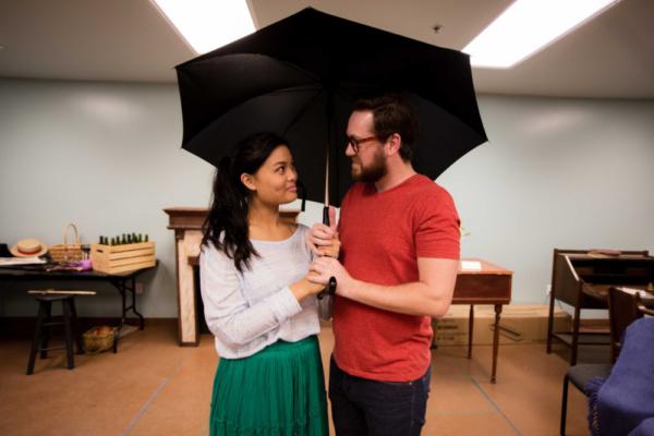 Jo March (Reanne Acasio) with Professor Bhaer (Joshua David Cavanaugh)