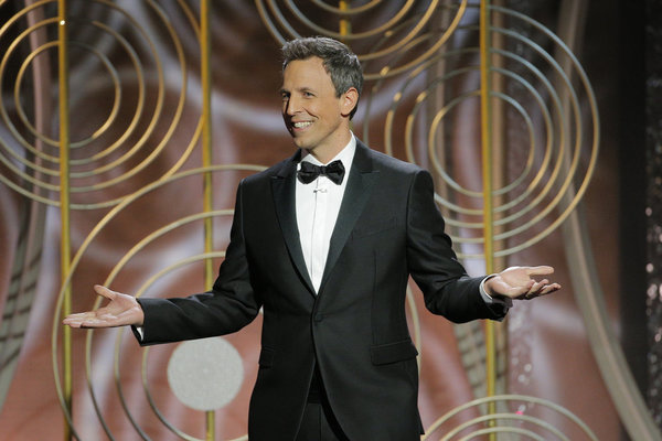 75th ANNUAL GOLDEN GLOBE AWARDS -- Pictured: Seth Meyers, Host at the 75th Annual Gol Photo