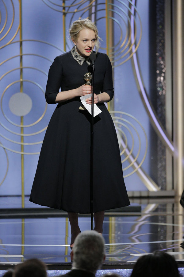 """75th ANNUAL GOLDEN GLOBE AWARDS -- Pictured: Best Performance by an Actress in a Television Series �"""" Drama at the 75th Annual Golden Globe Awards held at the Beverly Hilton Hotel on January 7, 2018 -- (Photo by: Paul Drinkwater/NBC)"""