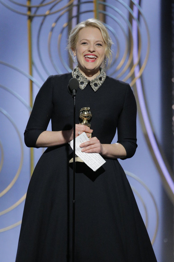 75th ANNUAL GOLDEN GLOBE AWARDS -- Pictured: Best Performance by an Actress in a Television Series – Drama at the 75th Annual Golden Globe Awards held at the Beverly Hilton Hotel on January 7, 2018 -- (Photo by: Paul Drinkwater/NBC)
