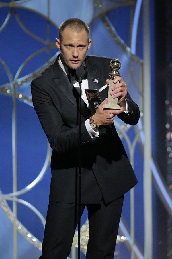 "75th ANNUAL GOLDEN GLOBE AWARDS -- Pictured: Alexander Skarsgaard, Â""Big Little Li Photo"