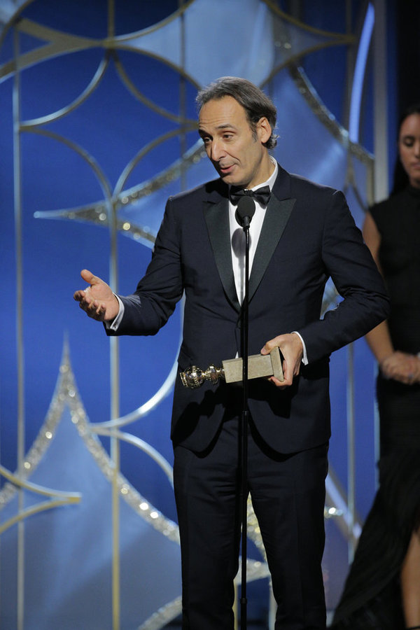 """75th ANNUAL GOLDEN GLOBE AWARDS -- Pictured: Alexandre Desplat, Â""""The Shape of Wat Photo"""