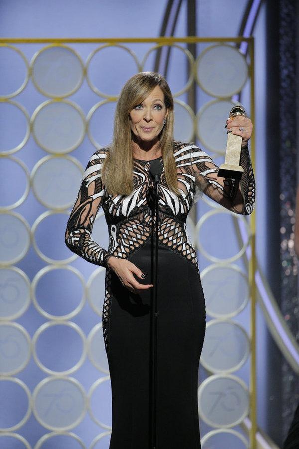 "75th ANNUAL GOLDEN GLOBE AWARDS -- Pictured: Alison Janney, ""I, Tonya"", winne Photo"