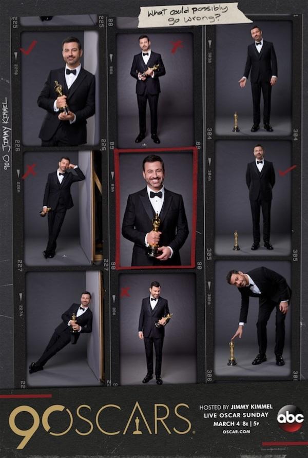 Jimmy Kimmel 90th OSCARS key art