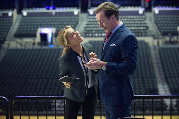 Pictured (L-R) Bojana Novakovic as Lizzie Needham and Alan Cumming as Dr. Dylan Reinhart, Photo: Jeff Neira/CBS ©2017