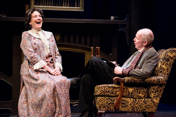 Jill Tanner and Jonathan Hogan in HINDLE WAKES by Stanley Houghton, Directed by Gus Kaikkonen. Photo by Todd Cerveris.
