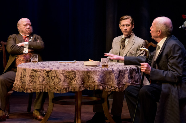Brian Reddy, Jeremy Beck and Jonathan Hogan in HINDLE WAKES by Stanley Houghton, Directed by Gus Kaikkonen. Photo by Todd Cerveris.