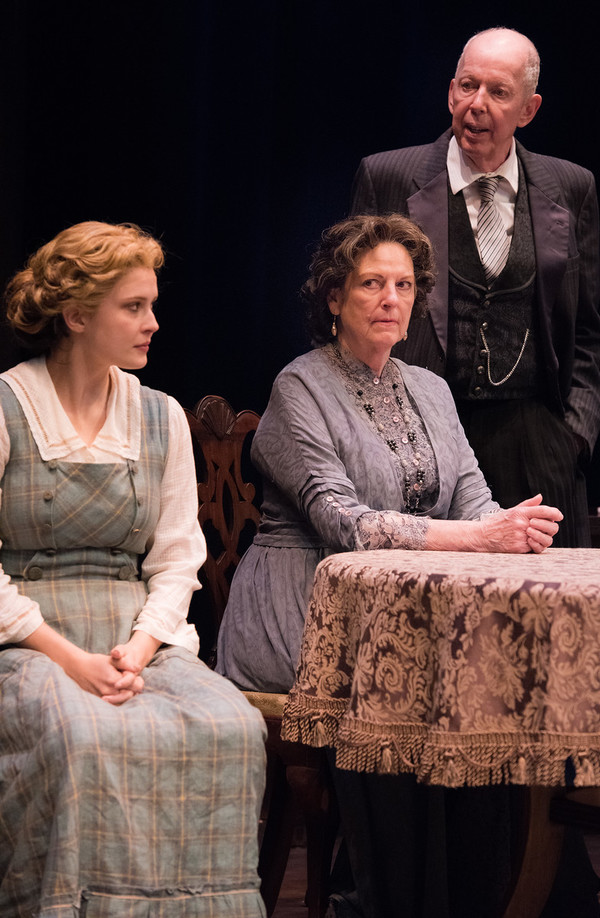 Rebecca Noelle Brinkley, Jill Tanner and Jonathan Hogan in HINDLE WAKES by Stanley Houghton, Directed by Gus Kaikkonen. Photo by Todd Cerveris.