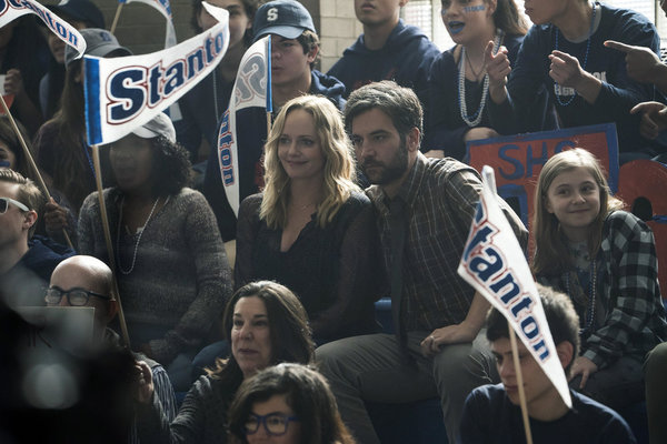 "RISE -- ""Pilot"" Episode 101 -- Pictured: (l-r) Marley Shelton as Gail Mazzuchelli, Josh Radnor as Lou Mazzuchelli -- (Photo by: Peter Kramer/NBC)"