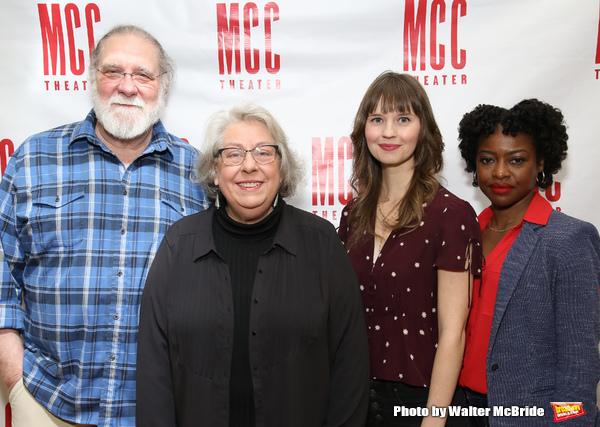 Richard Masur, Jayne Houdyshell, Molly Camp, and Pascale Armand
