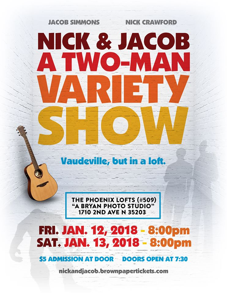 BWW Interview: Nick Crawford and Jacob Simmons talk about bringing vaudeville back to Birmingham in NICK & JACOB: A TWO-MAN VARIETY SHOW