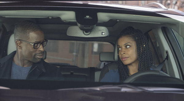 "THIS IS US -- ""Clooney"" Episode 212 -- Pictured: (l-r) Sterling K. Brown as Randall, Susan Kelechi Watson as Beth -- (Photo by: Ron Batzdorff/NBC)"