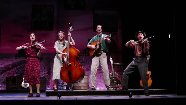 Leenya Rideout, Katie Barton, David M. Lutken (as Woody Guthrie), and David Finch